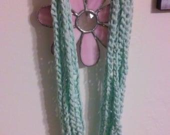 Crochet Chain Scarf / Mint Scarf / Chain Scarf / Soft Scarf / Crochet Scarf /