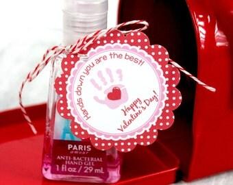 Valentine Hand Sanitizer Tag, DIY, Printable, Instant Download
