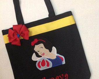Personalized Tote Bag, Personalized Tote, Snow White Tote Bag, Snow White Tote, Snow White Gift, Personalized Snow White, Princess Tote