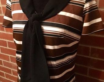 NOS Mod drop-waist dress w pleated skirt