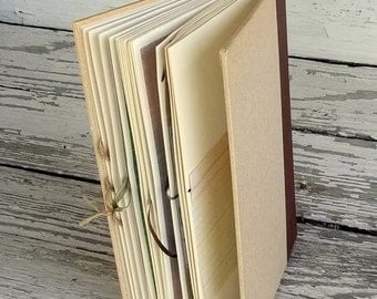 Travel Journal, Upcycled Book Journal, Junk Journal, Travel Diary