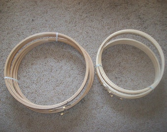 6 NWT 10 Inch Embroidery Hoops plus 6 12 Inch Embroidery Hoops