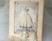 To My Parents On My Wedding Day, Bridal Party Card, Thank You Card, Vintage Thank You, Wedding Day Card