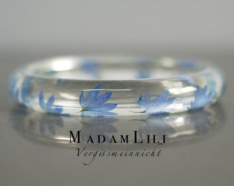 Real forget-me-not flowers bracelet