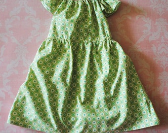ON SALE! Merry and Bright (green) nelle dress, size 12mos.-8 girls