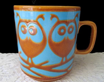 FIVE OWL MUG * Hornsea England * John Clappison