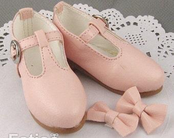 Fatiao - 1/4 BJD Mini Supper dollfie MSD Shoes - Pink (Size 5.5cm)