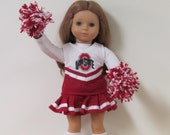 American Girl Dolls  6 Piece Scarlet Cheer Outfit