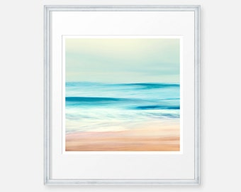 Wave Photo, Ocean Photography, Seascape Photo, Pacific Wave, Surf Art, Abstract Art, Retro Art, California Photo, Beach Print, Teal Print