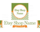 Etsy Banners - Etsy Shop Banners - St Patricks Day Etsy Banners - Saint Patrick's Day Etsy  - 2 Piece Set