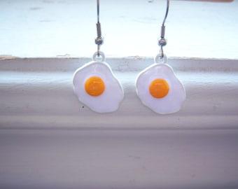 Egg Earrings  - Fried Egg  Earrings- Waitress Earrings - Waiter Earrings -Cook  Earrings- Chef Earrings - Free Gift With Purchase