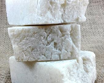 Small Plain Jane Sea Salt Soap - Dye Free & Fragrance Free - Vegan Friendly - Hot Process Soap - Unscented Sea Salt Soap