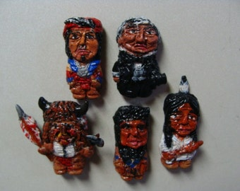 Great Native American Leaders Magnet Set A