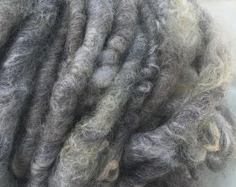 Handspun Romney wool super super bulky art yarn - handmade corespun yarn, Type A Fibers