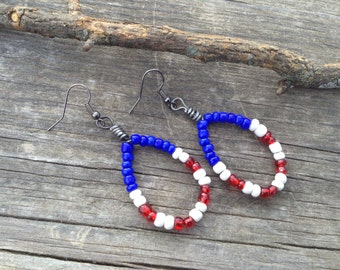 GREAT Fourth of July earring set