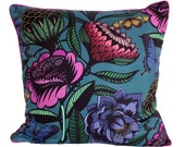 Floral Cushion/Floral Pillow/Bright Blooms and Butterflies Cushion