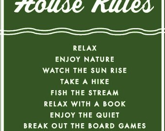 Mountain House Rules 19 x 29