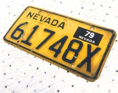 Vintage 1979 Nevada License Plate