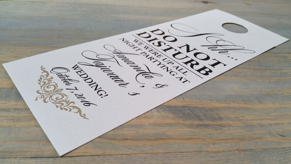 wedding do not disturb, hotel door hanger, do not disturb wedding, door hangers for wedding, wedding hotel door hangers, wedding door hanger
