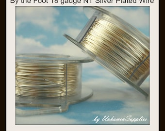 By the Foot 18 gauge Non Tarnish Silver Plated Wire - 100% Guarantee