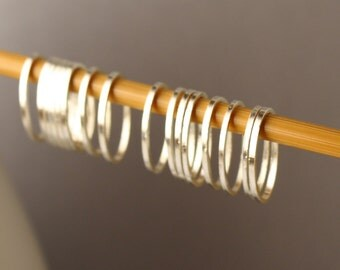 Simple Solid Snag-Free Mini Oval Ring Stitch Markers for Knitting