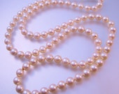 "Vintage 14k Genuine Cultured Sea Pearl Necklace 28"" 7mm Fine Jewelry Jewellery"
