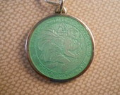 Mint Green Charles Thomae St Christopher Pendant with Chain