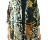 Boho Kimono/Gorgeous Kimono cardigan-brown, black,amber,copper - summer collection