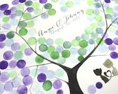 Cats Wedding Guest Book guestbook print - 200 Guest Signatures Alternative Guest Book wedding tree Art Print gift ideas - AMUR MAPLE TREE