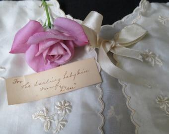 Antique Baby Christening Jacket, Christening Jacket, Silk Jacket, Suitable for Framing, Collectible Vintage Clothing, Bed Jacket