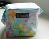 BUTTERFLY Knitting Project Bag with Zipper - square