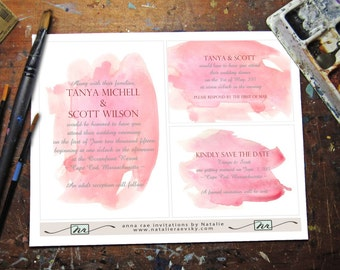 diy watercolor wedding invitations Wedding
