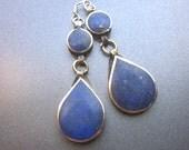 Lapis Dangle Earrings Lapis Lazuli Teardrop Jewelry