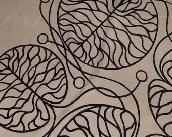 Marimekko BOTTNA cotton fabric natural white black tillukka Anna Danielson 2002