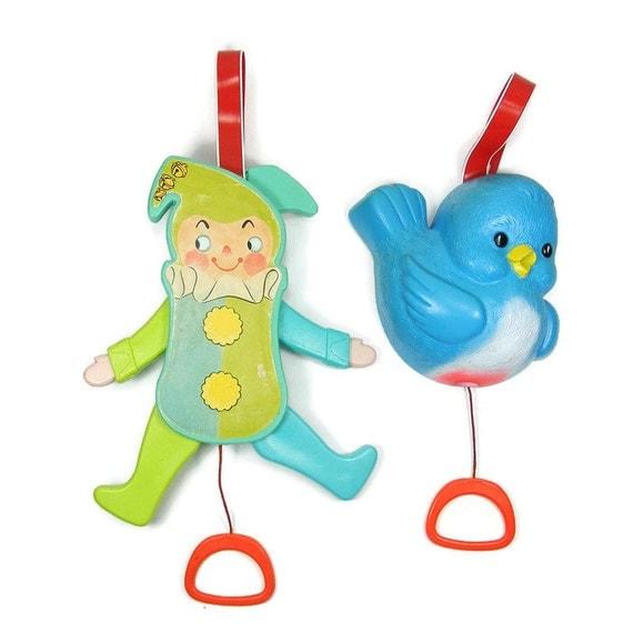 Fisher Price Crib Toys : Crib toys jolly jumping jack blue bird music box by fisher