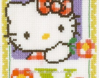 Sanrio Hello Kitty COMPLETE cross stitch KIT. Perfect for a new baby.