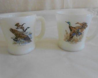 Vintage Fire King Coffee Cups/Mugs, Canada Goose', Purchase up to 7