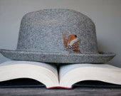 Grey Pendleton Wool Fedora Hat - Size Large