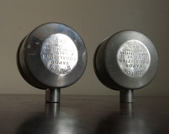 Vintage Ventor Aluminum Steam Valves. Set of 3. Indianapolis, Indiana.