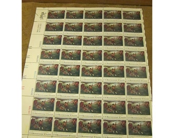 1975 Lexington & Concord Battle – 200th Anniversary – US Bicentennial Series - 10 Cent Stamp – Sheet of 40 Vintage Unused US Postage Stamps