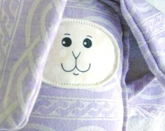 Bunny Rabbit Toy - Stuffed Bunny - Bunny Lovie - Bunny Stuffie - Babywearing Toy - Keepsake Toy - Simple Bunny - Floppy Bunny - Classic Toy