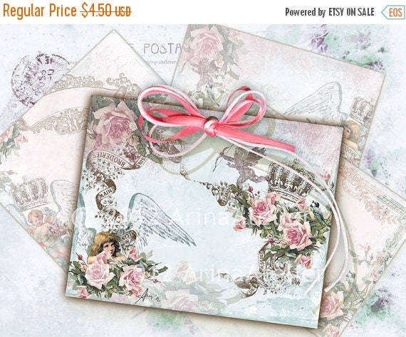 30% OFF SALE Love Angels ATC Cards - Backgrounds - Tags - Download Sheet
