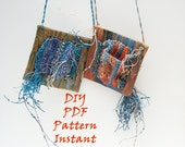 PDF How-To Pattern Instruction, Painted Tapestry Window Necklace, Instant Download, Textile Weaving, Woven Jewelry, DIY,  How To Weave