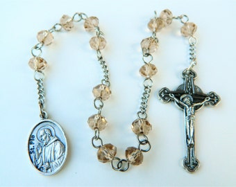 Saint Padre Pio Prayer Chaplet Rosary: Christian Mystic Patron of Adolescennts and Civil Defense Volunteers