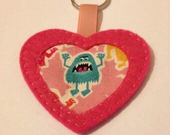 Monster keyring keychain