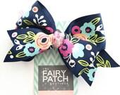 Floral hair bow, hair bows for girls, girls hair bows, hair bows, flower hair bow, stocking stuffer for girls, pre teen gift idea, kids gift