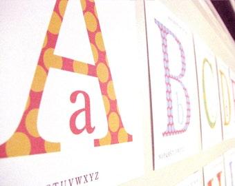 Polka Dot ABC Cards Printable