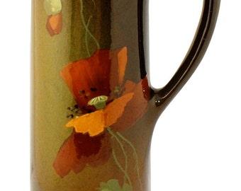 Owens Pottery Utopain Poppy Tankard Shape 1015