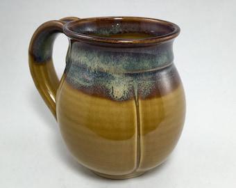 Wheel thrown pottery coffee mug