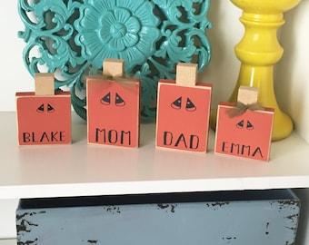 Personalized Pumpkin Child- Pumpkin Family, Personalized Pumpkin, Halloween Decor, Halloween Family, Pumpkin Decor, Halloween Blocks,